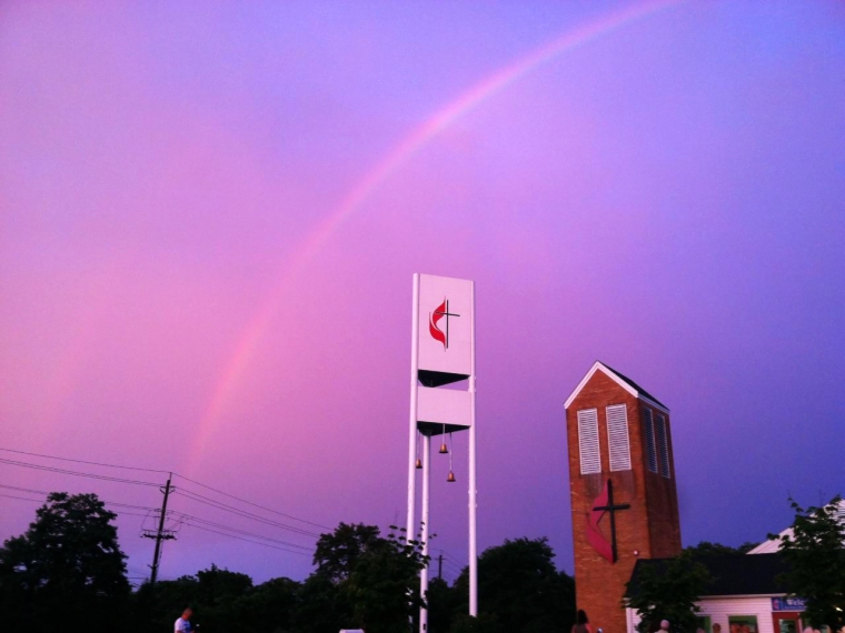 Doug DeFrank snapped this image tonight on the opening night of Vacation Bible School.