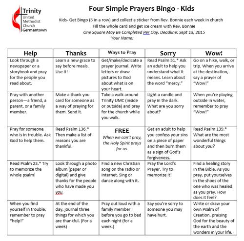 kids bingo