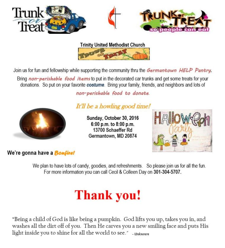 Trunk or treat flier